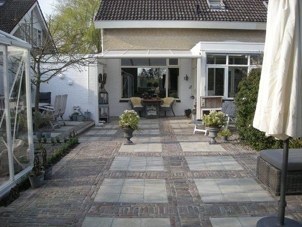 Grijze Tegels Tuin : Lounge grijze tegels: designo houtatelier bvba. terras hout en